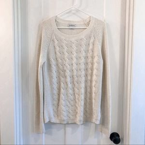 Liz Claiborne Sparkly Cable Knit Sweater Large
